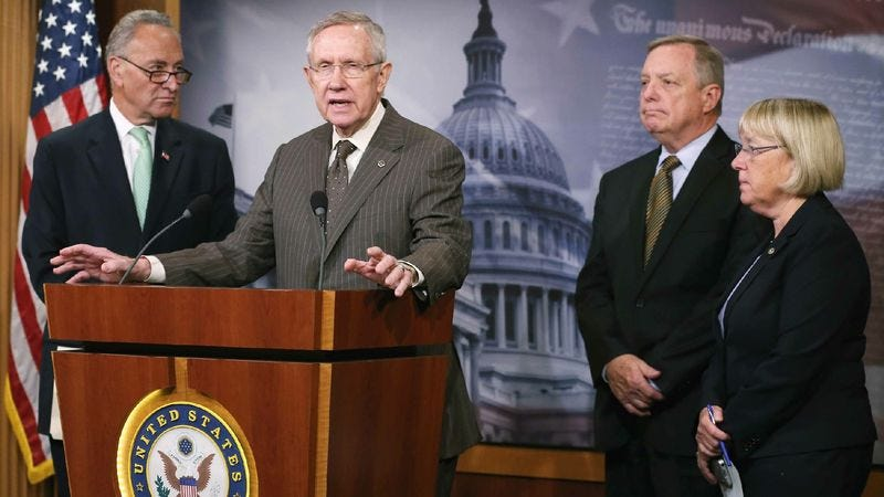 Senate Democrats say their last legislative hurrah will showcase everything their party does best, including steadily backtracking on their ideas and dozens of concessions.