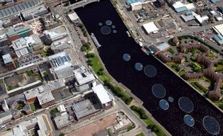 Illustration for article titled Glasgow Considering Installing Giant 'Solar Lily Pads' in the River Clyde
