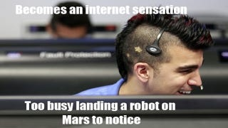 Illustration for article titled NASA's Mohawk Guy Loves Mars and Memes in (Almost) Equal Measure