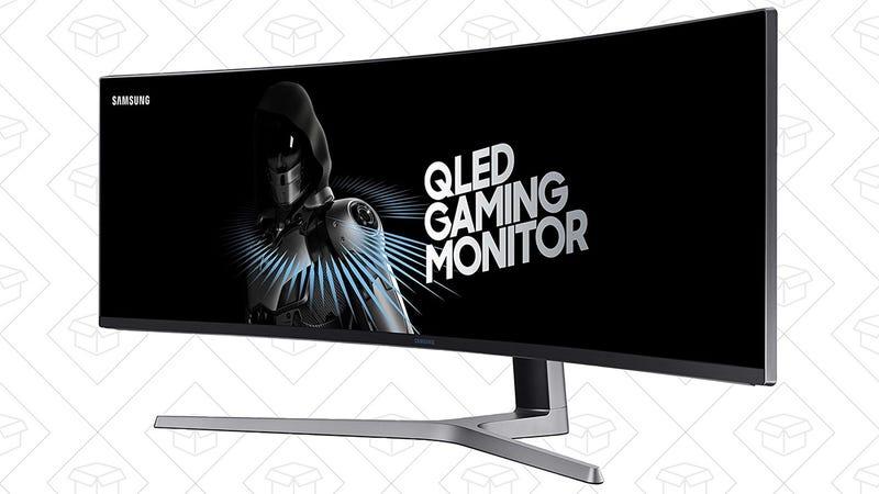"Samsung 49"" Curved QLED Gaming Monitor   $850   Newegg"