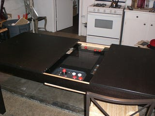 Illustration for article titled Man Fits Home-Made Gaming System to IKEA Dining Table