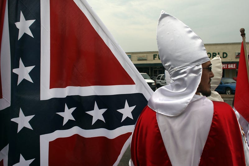 Members of the Fraternal White Knights of the Ku Klux Klan in 2009 Spencer Platt/Getty Images