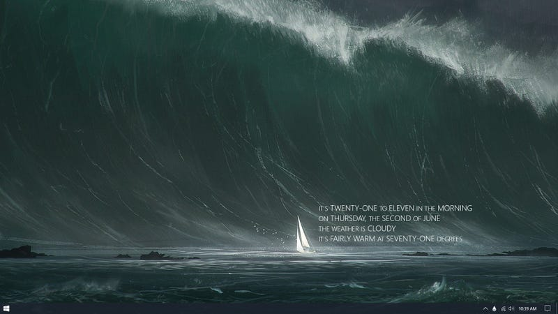 Illustration for article titled The Stormy Sea Desktop