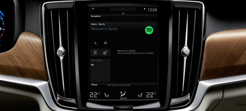Volvos Now Come With Spotify Integrated Into The User Interface