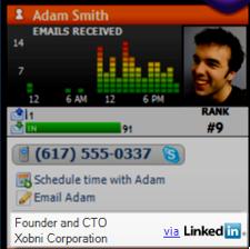 Illustration for article titled Xobni Integrates with LinkedIn