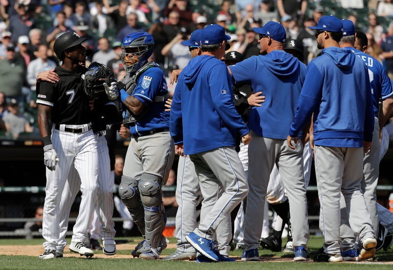 Illustration for article titled Benches Clear After Royals Plunk Tim Anderson On The Ass For Enjoying His Homer