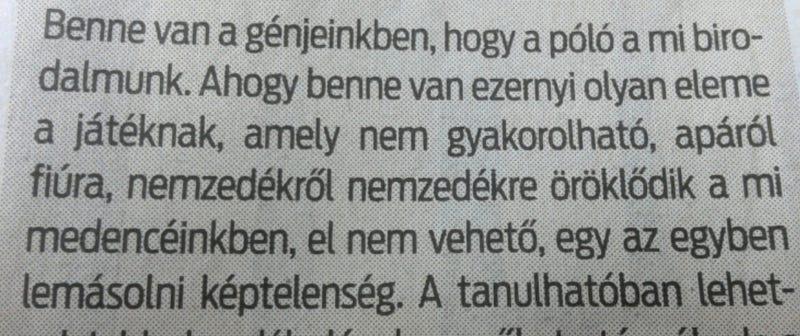 Illustration for article titled Gusztustalan genetika: a magyar vízipóló a medencében öröklődik, mint valami lábgomba?