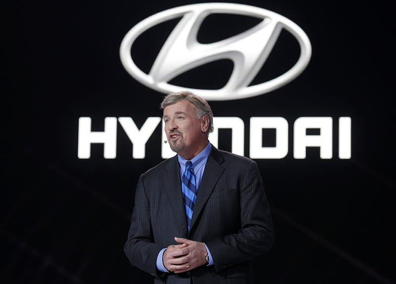 Former Hyundai Motor America CEO Dave Zuchowski at the 2014 NAIAS. (Photo Credit: AP)