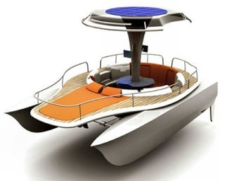 Illustration for article titled The Pedal Boat Gets a Solar Powered Boost