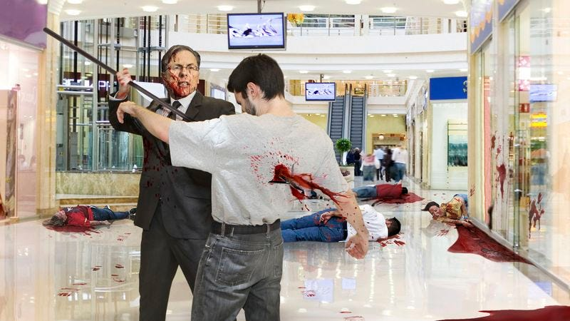 Illustration for article titled Wayne LaPierre Goes On Harpooning Spree To Prove Some Sort Of Point