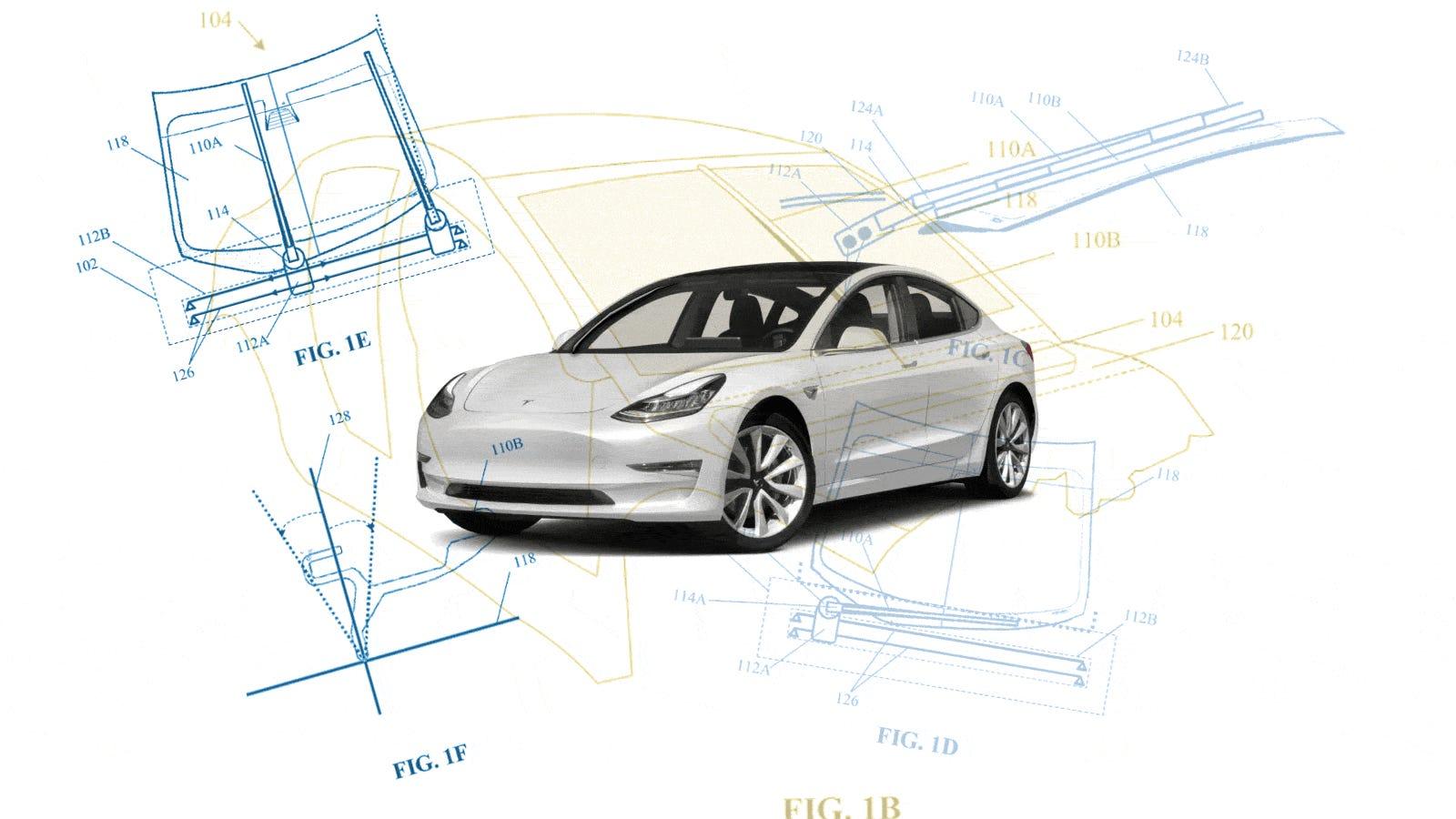 Telsa's 'Electromagnetic Windshield Wiper' Patent Looks Pretty Cool For A Windshield Wiper
