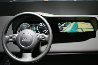 Illustration for article titled Is this the Futuremark 3D OpenGL-Powered Car Dashboard of the Future?