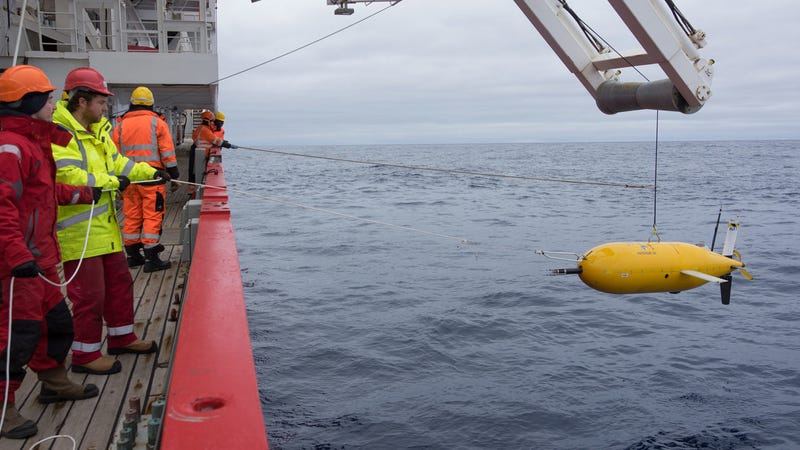 Boaty returns from one of its three mission to the Orkney Passage in the Southern Ocean. (Image: BAS)