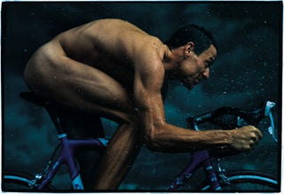 Illustration for article titled Lance Armstrong Is Ready To Return To Prominence, All Nude And Wet