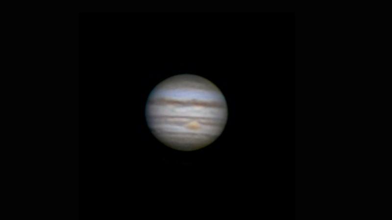 Jupiter seen through an amateur telescope.