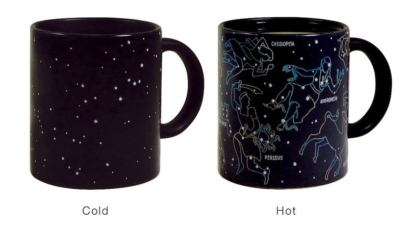 Illustration for article titled This starry mug reveals constellations when filled with a hot beverage