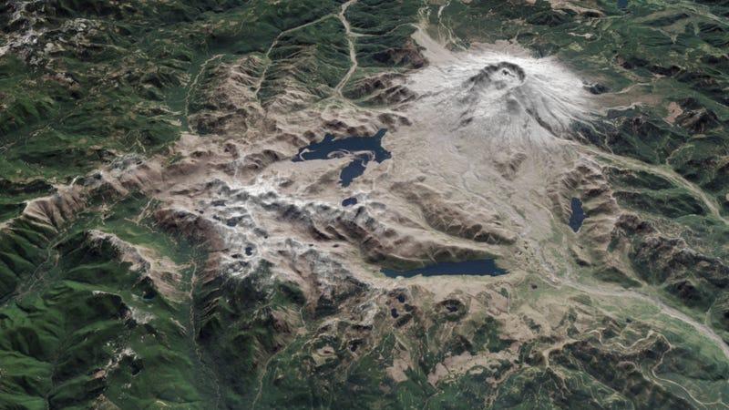 Illustration for article titled La catástrofe de Mount St Helens, vista desde el espacio 35 años después