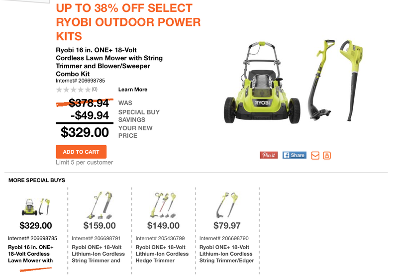 Ryobi Deal of the Day