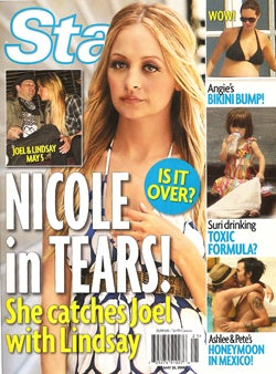 Illustration for article titled This Week In Tabloids: Jessica Is Dumped; Nicole's In Tears & It's Lindsay's Fault