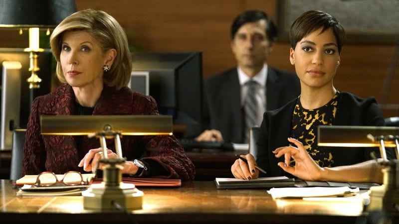Christine Baranski as Diane Lockhart, Cush Jumbo as Lucca Quinn. Photo: Patrick Harbron/CBS