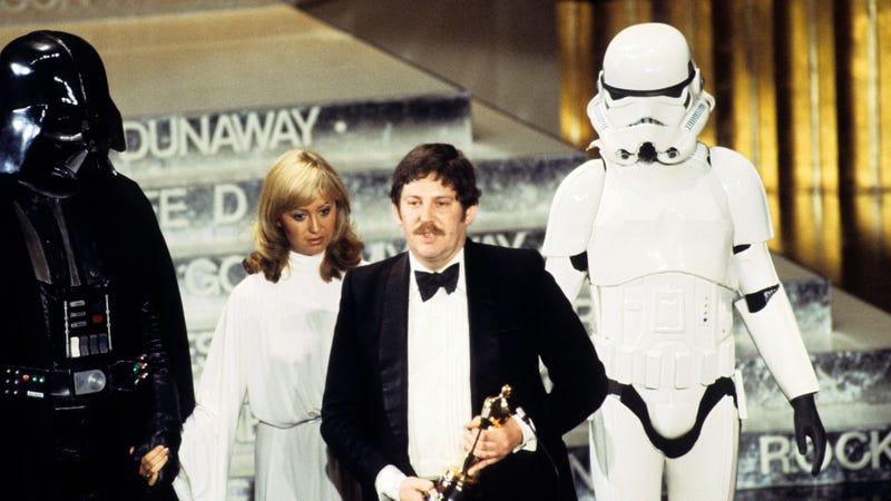Mollo, accepting his Star Wars Oscar in 1978