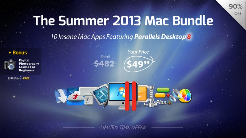 Illustration for article titled Get Parallels, Snagit, and 8 More Mac Apps at 90% Off for $49.99