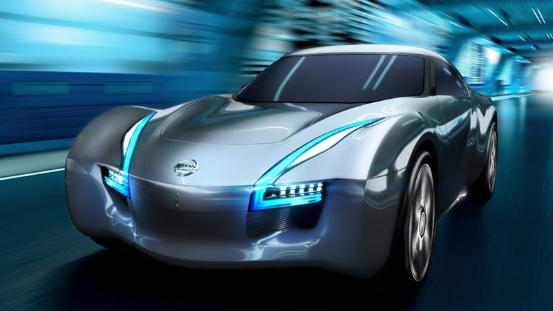 Illustration for article titled Nissan cross-breeds sports car with electric car for new concept