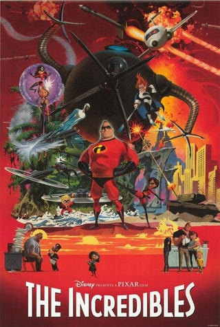 Illustration for article titled This hand-painted Incredibles poster is downright gorgeous