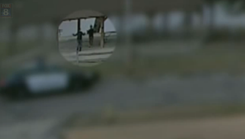 Surveillance footage shows the two young boys walking toward police with their hands up in Palma, Ohio, in February 2016.Fox 8 screenshot