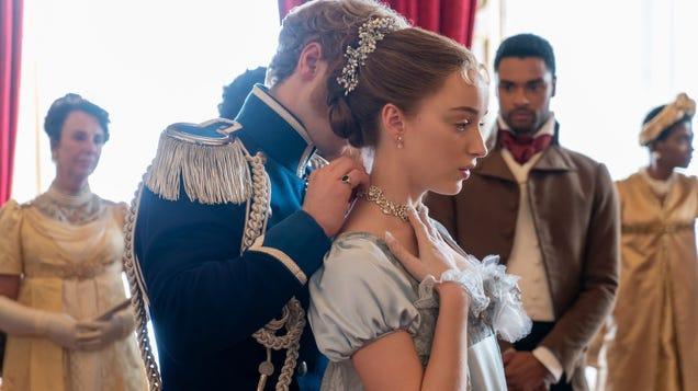 Netflix's corset-clad, pearl-clutching Bridgerton gets a steamy new trailer