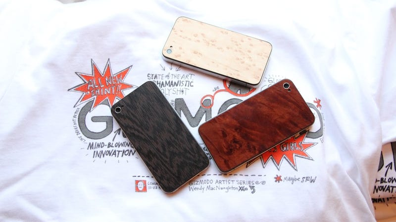 Illustration for article titled Wooden iPhone 4 Backs: Tackily Awesome, or Awesomely Tacky?
