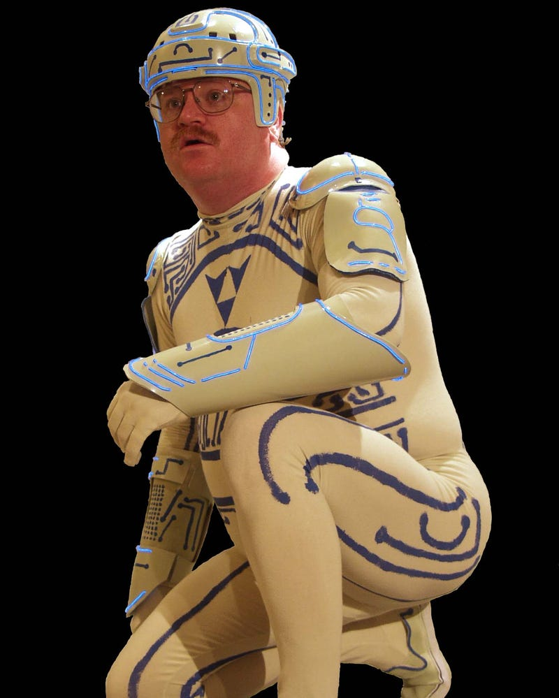 Illustration for article titled TRON Guy Forbidden From Wearing His Costume in a Movie Theater