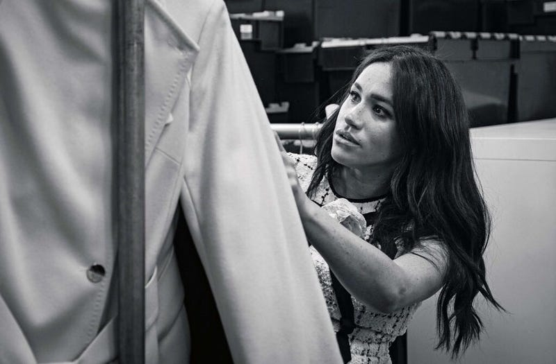 An undated handout photo issued by Kensington Palace of the Duchess of Sussex, Meghan Markle, patron of Smart Works, in the workroom of the Smart Works London office.