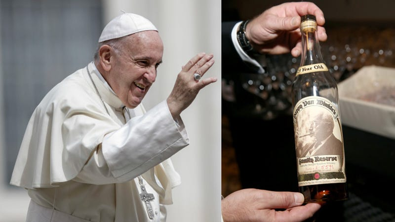 Illustration for article titled Kentucky priest secures entrance to heaven by gifting Pope rare Pappy Van Winkle bourbon