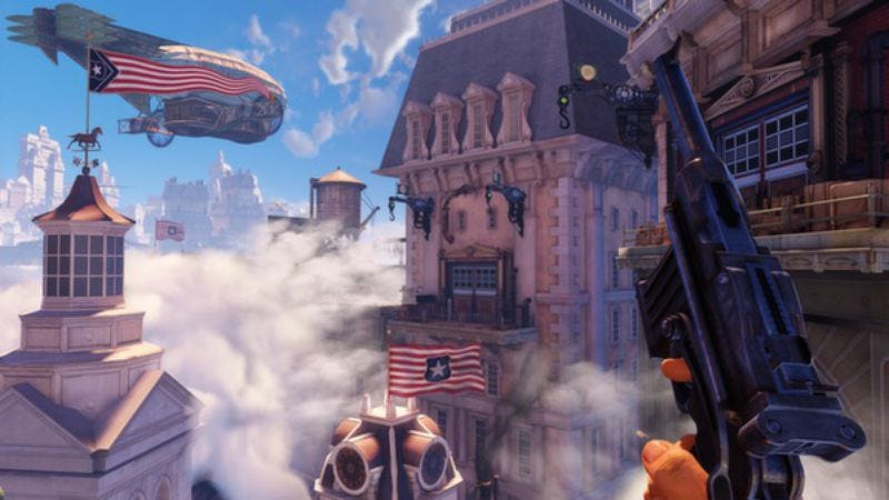 Illustration for article titled Fox News rips off BioShock Infinite logo, irony ensues