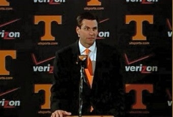 Illustration for article titled Derek Dooley Compares His Tennessee Team To The Nazis Or Something (UPDATED WITH VIDEO)