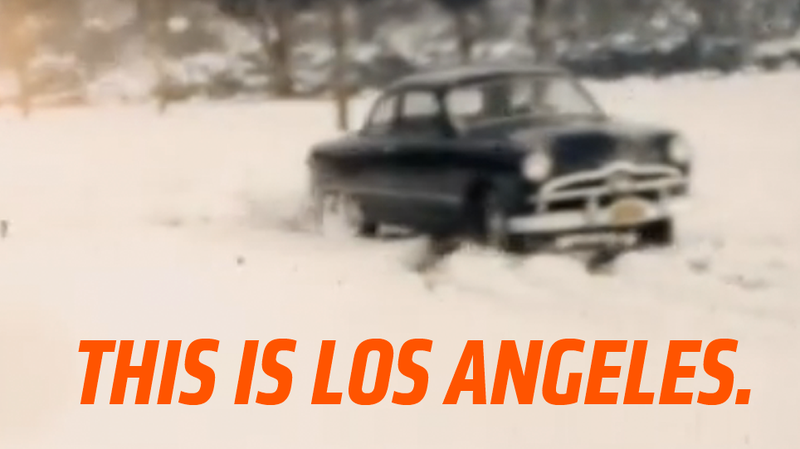 Illustration for article titled Never Before Seen Footage Of The Incredibly Rare SoCal Snownut