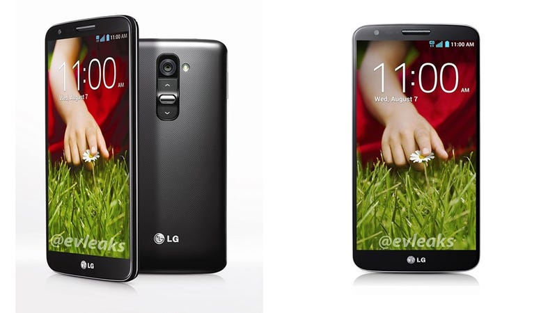 Illustration for article titled LG G2 Leaked Images Show a Well-Rounded New Smartphone