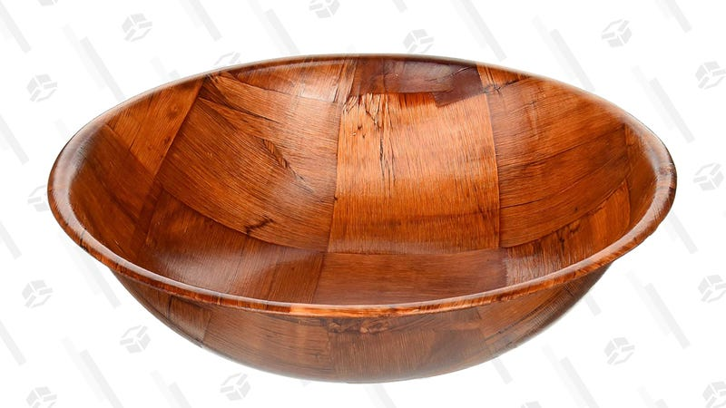 Winco WWB-10 Wooden Woven Salad Bowl, 10-Inch | $1 | Amazon