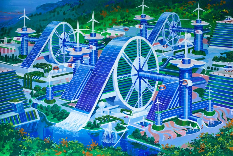 Illustration for article titled How An Architect Who Has Never Left North Korea Imagines The Future