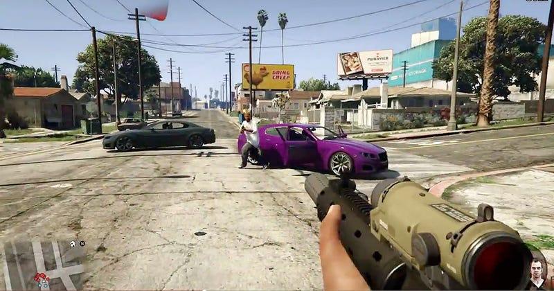 Illustration for article titled Es oficial: Grand Theft Auto V se podrá jugar en primera persona
