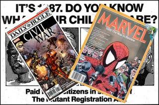Illustration for article titled The Secret History of Marvel's Civil War