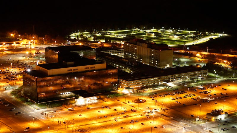 Aerial photograph of the National Security Agency by Trevor Paglen.