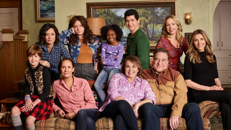 The cast of Roseanne.