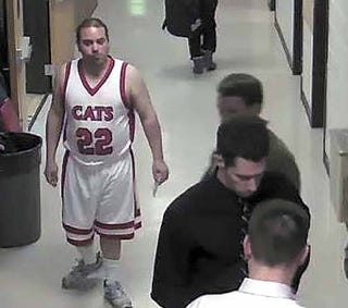 Illustration for article titled 28-Year-Old Man Banned From North Dakota High School Basketball Games After Allegedly Dressing In Uniform And Asking For Piggyback Rides
