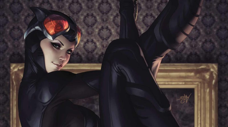 Illustration for article titled Catwoman plots a Chinatown robbery in this exclusive preview