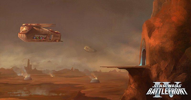 Illustration for article titled Rumored Star Wars Battlefront IV Concept Art Leaks