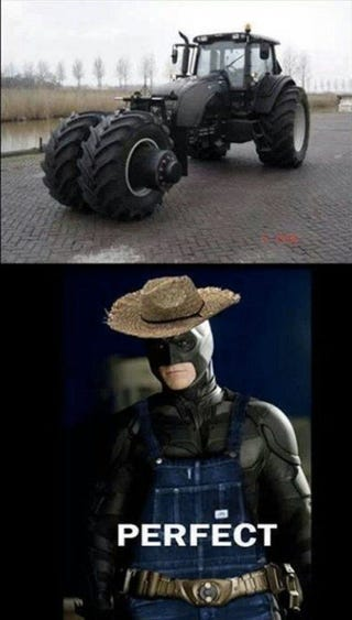 Illustration for article titled Farmer Batman...