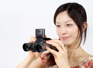 """Illustration for article titled Digital Camera Binoculars From Thanko Are Perfect For """"Ornithologists"""""""