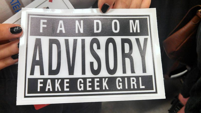 Illustration for article titled 'Fake Geek Girl' Stickers Used To Sexually Harass Women At Convention